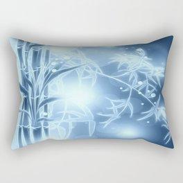Bambuszweige - blau coloriert Rectangular Pillow