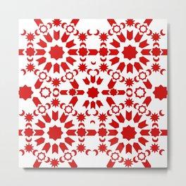 Red Arabesque Metal Print