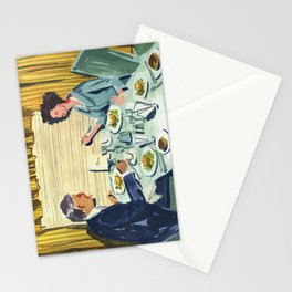 Dinner on the Train Stationery Cards