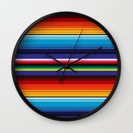 The Mexican Stripes Wall Clock