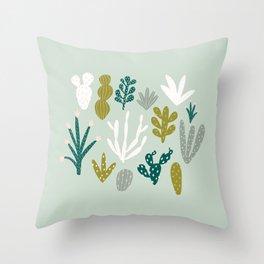 Succulent + Cacti Dreams Throw Pillow