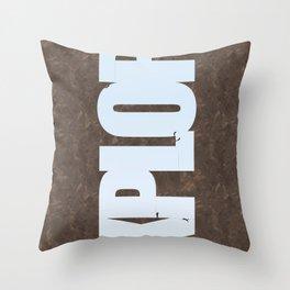 Explore Climbing 1 Throw Pillow