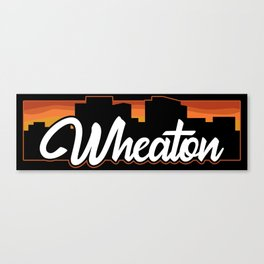 Vintage Wheaton Maryland Sunset Skyline T-Shirt Canvas Print