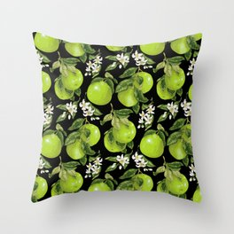 Blooming pomelo with fruits Throw Pillow