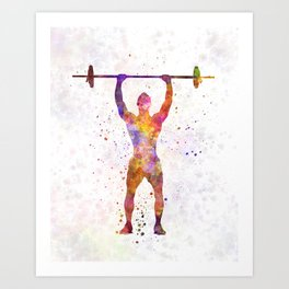body buiding man isolated Art Print