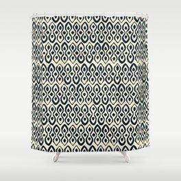 brocade indigo ivory Shower Curtain