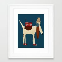 aelwen Framed Art Prints featuring bootleg beagle  by bri.buckley