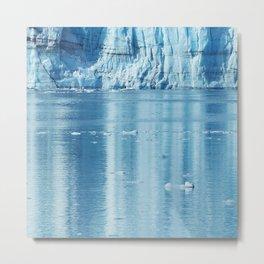 Alaskan Blue Ice Water Reflections in Glacier Bay Metal Print