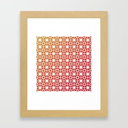 Traditional chinese paper cut  Framed Art Print