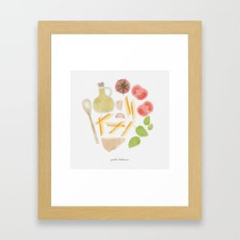 Pasta Italiana Framed Art Print