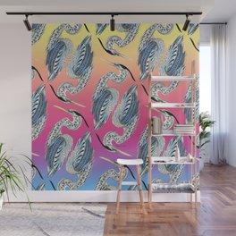 Great Blue Heron Pattern Wall Mural