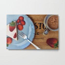 Strawberry Cheesecake Metal Print