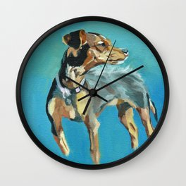 Mabel Jane the Marvelous Mystery Mutt Wall Clock