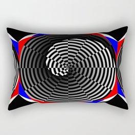 Digital Checker Yin Yang Rectangular Pillow