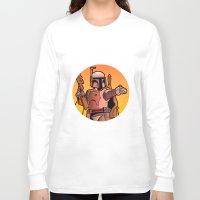 boba Long Sleeve T-shirts featuring Boba Fire by Ann Van Haeken