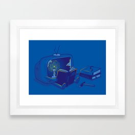 Rethink yourself Framed Art Print