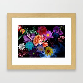 Colorful Fractal Flowers Framed Art Print