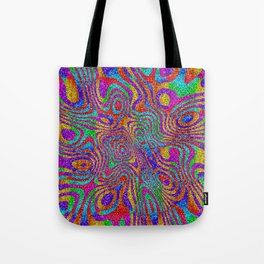 Psychedelic Rainbow Glitter Bomb Tote Bag