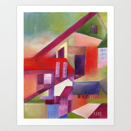 The Village that Grew Up Crooked Art Print