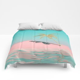 Palm Tree Oasis Comforters