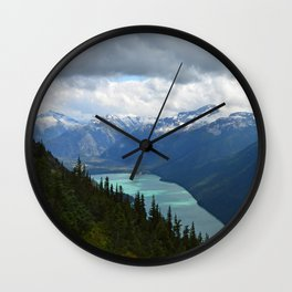Whistler trails Wall Clock