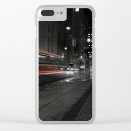 Red Rocket Clear iPhone Case