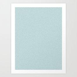 Light Cyan Saturated Pixel Dust Art Print