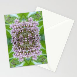 Kaleidoscope Pink Milkweed Flower Macro Photograph Stationery Cards