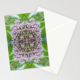 Kaleidoscope Pink Milkweed Flower Macro Photograph Stationery Cards