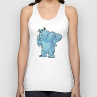 "monsters inc Tank Tops featuring Monsters, Inc. | James P. ""Sulley"" Sullivan by Brave Tiger Designs"