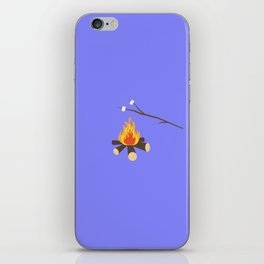 Campfire with marshmallows iPhone Skin