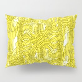 Subtle interweaving of sparkling smudges from gold lava and light chaotic cycle. Pillow Sham