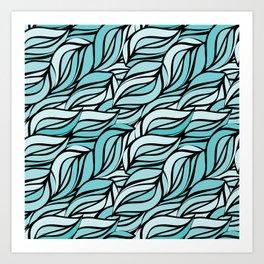 Blue texture Art Print