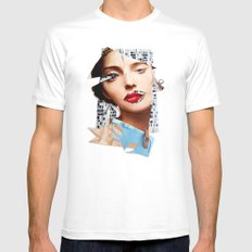 Make me beautiful | Collage White MEDIUM Mens Fitted Tee