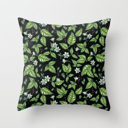 Blooming chili Throw Pillow