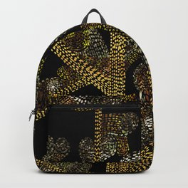glowing golden swirly tree Backpack