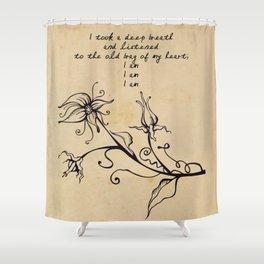 Sylvia Plath - I am Shower Curtain