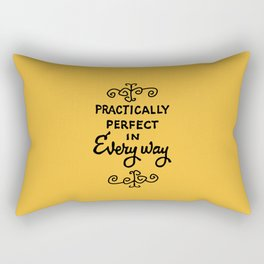 Practically perfect in every way mary poppins measuring tape..  Rectangular Pillow