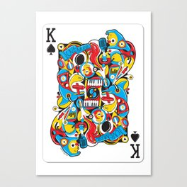 King Of Spades Canvas Print