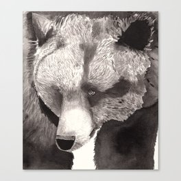 Bear in ink Canvas Print