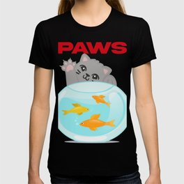 Funny Paws Cat Jaws Parody T-shirt