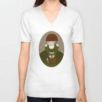 teacher V-neck T-shirts featuring Venom Teacher by Loop in the mind
