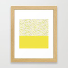 Triangles yellow Framed Art Print