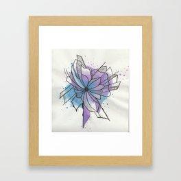 Explosion Flower Blue and Purple Framed Art Print