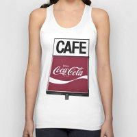 coca cola Tank Tops featuring Coca-Cola Cafe by Vorona Photography