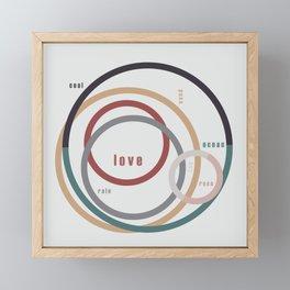 for Love    words & circles Framed Mini Art Print