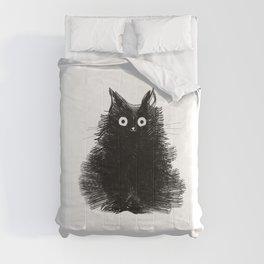 Duster - Black Cat Drawing Comforters
