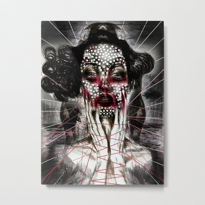 Black Siren Metal Print