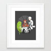 2001 Framed Art Prints featuring Poker 2001 by Ukko