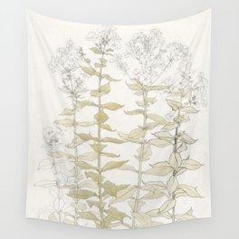 Botanical Phlox Wall Tapestry